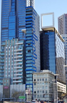 The thinnest high rise in Melbourne - 6.7 m wide by 23.4 m deep and 88 metres high