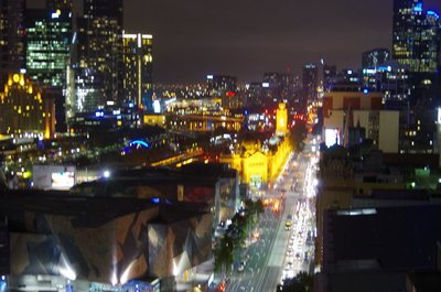 Flinders Street at night