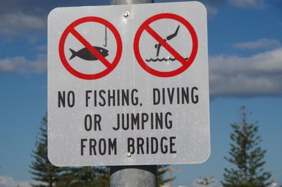 No Diving! - but who careds.