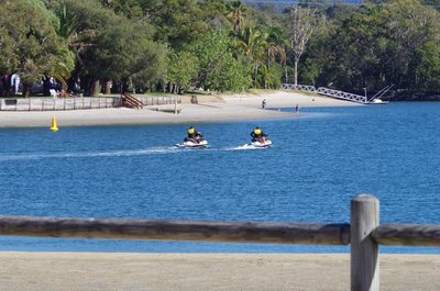 The good life - a couple of Policemen on their Jetskis