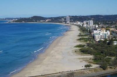 Palm Beach from the lookout on Burleigh Head