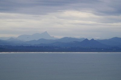 Looking Northwest from Cape Byron towards the mountains