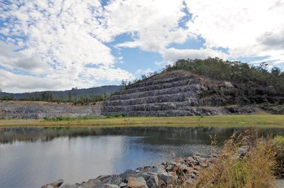 The Quarry on site where the rock for the Hinze Dam wall was sourced