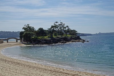 Rocky Point Island at the end of Balmoral Beach