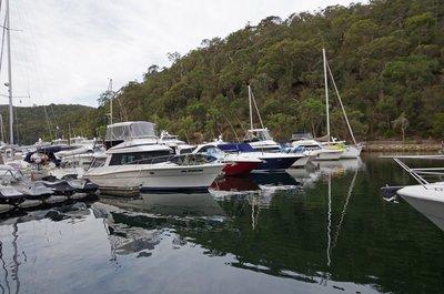 Not too many yachts at Akuna Bay Marina