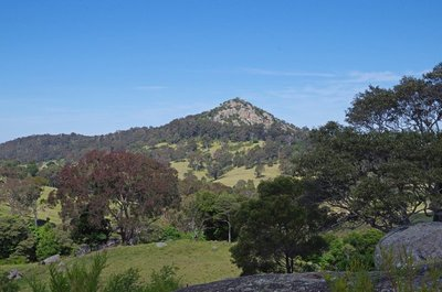 Nearby rocky outcrop at Central Tilba.