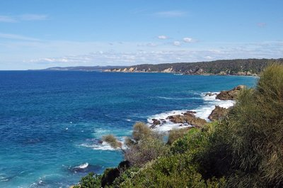 Looking south from the Look Out at Bermagui.