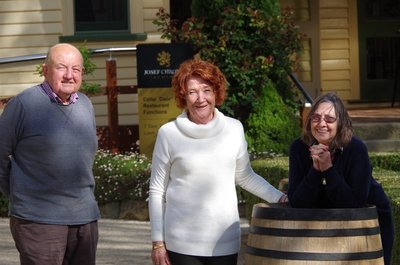Andy with Di and Jan at Josef Chromy Winery