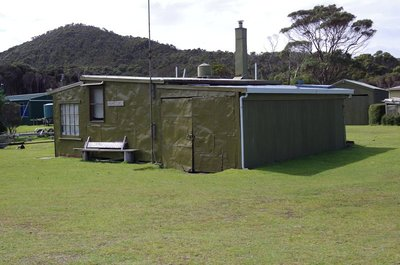 One of the better maintained shacks at Pieman Heads.