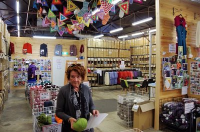 Di on a mission at the Bendigo Woolen Mill