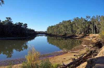 The Murray River at Echuca.