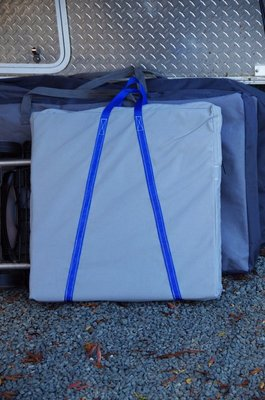 New carry bags for mats and our folding table.