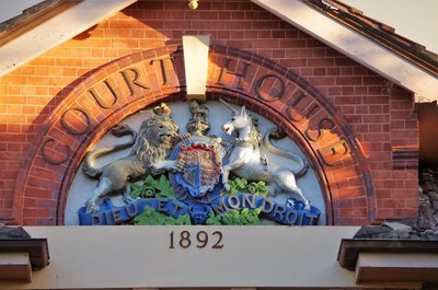 Coat of Arms on the Hay Court Building.