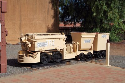 Battery operated mine locomotive