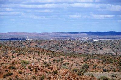 Mining activity near Broken Hill
