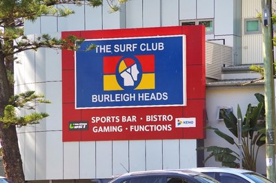 Our new club frosty - the Burleigh Beach Surf Club.