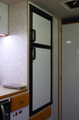 New panels on the fridge doors.
