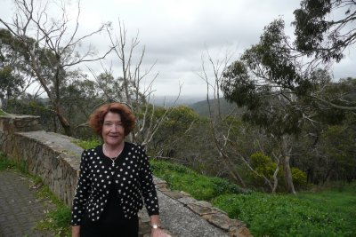 Di at the Mount Lofty Lookout
