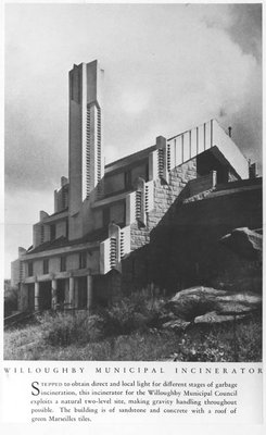 Willoughby Incinerator as built