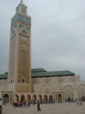 Hassan II Mosque, a tourist attraction in Casablanca, Morocco