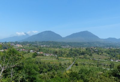 View of the mountians in Northern Bali