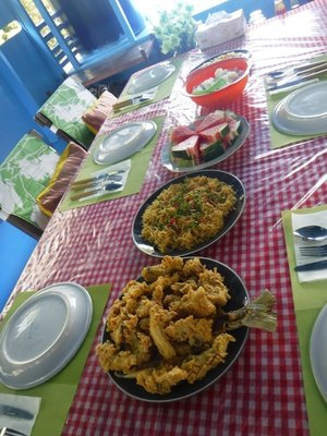 The first of many feast prepared by the lovely Yana