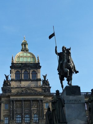 St Wenceslas with National Museum in the background