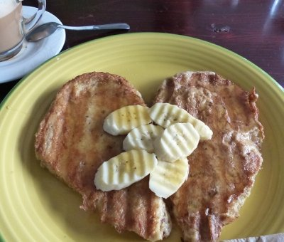 Heart shaped French Toast at the Cat House