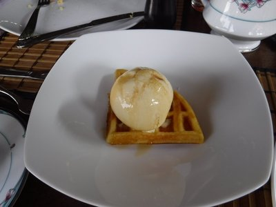 Waffles and Ice Cream...Breakfast tradition