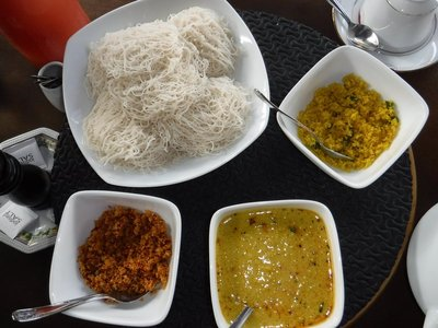 Sri Lankan Breakfast - String Hoppers and Curry