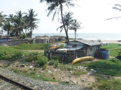 View from the train - Colombo to Mirissa