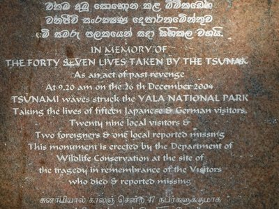 Memorial to those that died in 2004 Tsunami