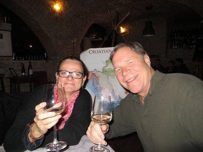 Tasting a little Croatian wine