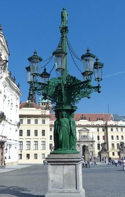 Light post Prague Castle Style