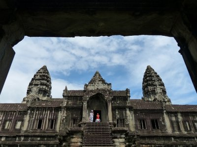 Stairway to Angkor Wat