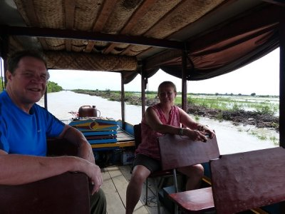 Tourists along the river