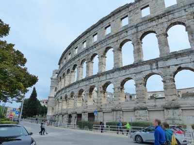 Front view Amphitheater in Pula