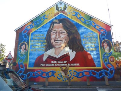 Bobby Sands Tribute in Falls Road area Belfast