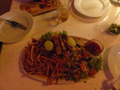 Fish, crab, squid and shrimp....yummmm