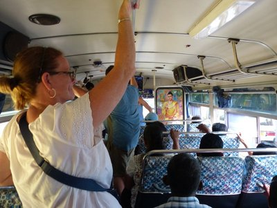 Our bus ride to Galle