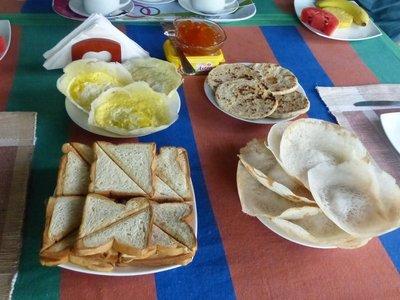 Our last breakfast at Sigiri Regal