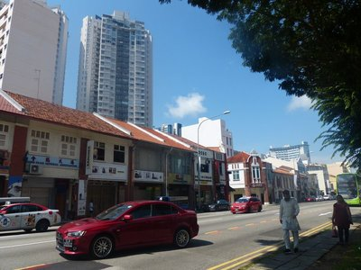 A mix of old and new - describes all of Singapore
