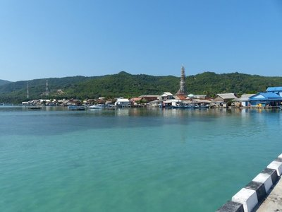 Karimunjawa village from the end of the pier