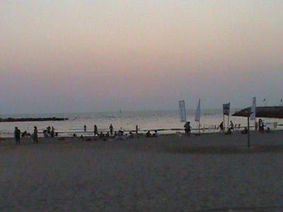 Beach in Tel Aviv at Sunset