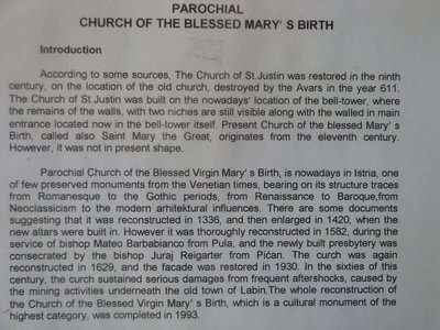 Introduction to the Church of the Blessed Mary's Birth