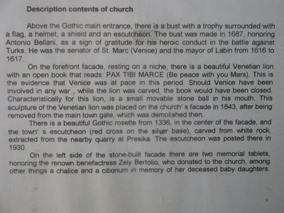 Continuation of the description of the Church