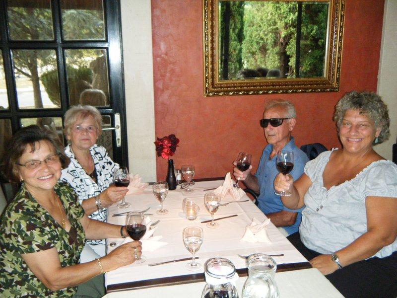 Dinner at Riva restaurant