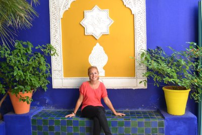 Soph at Jardins majorelles, Marrakesh