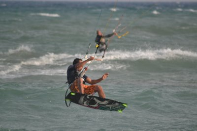 Beaches of Costa de la Luz - Atlantic coast - kite surfers