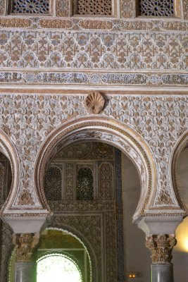 Palace of alcazar real in Seville